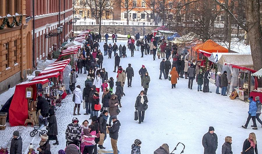 Vanhan suurtorin joulumarkkinat kuva Mikko Vihervaara